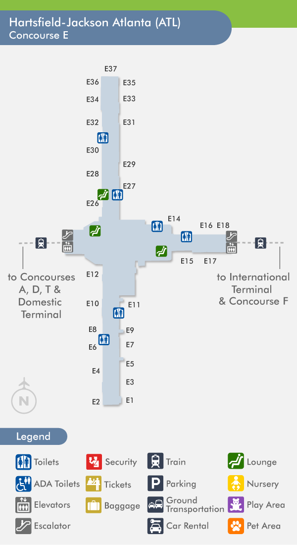 Atlanta Airport Concourse Map Related Keywords