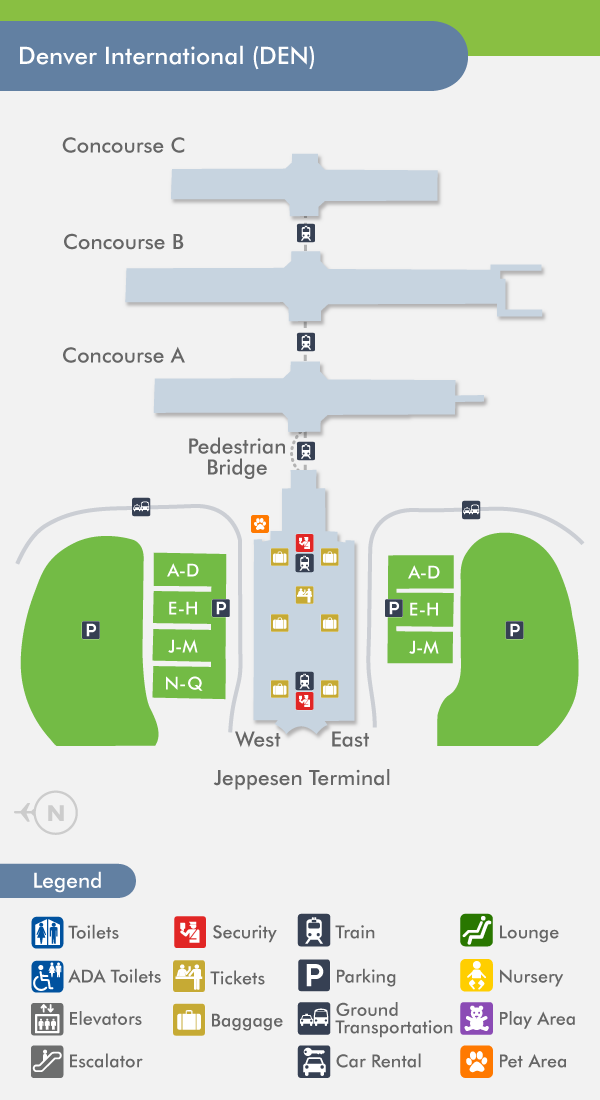 Denver airport terminal c map and travel information | Download free ...