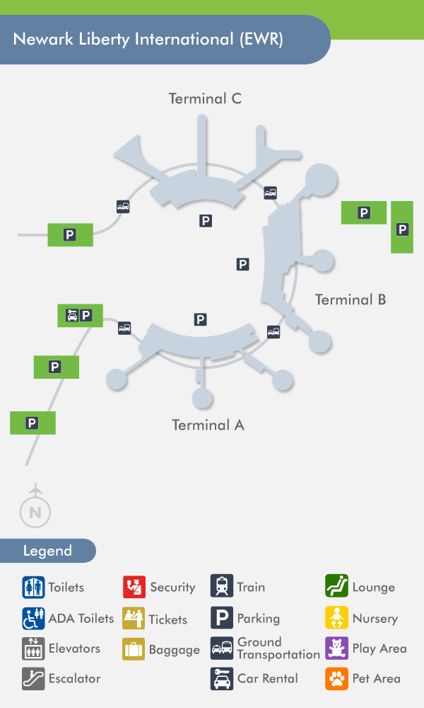 Newark Airport EWR Terminal Map