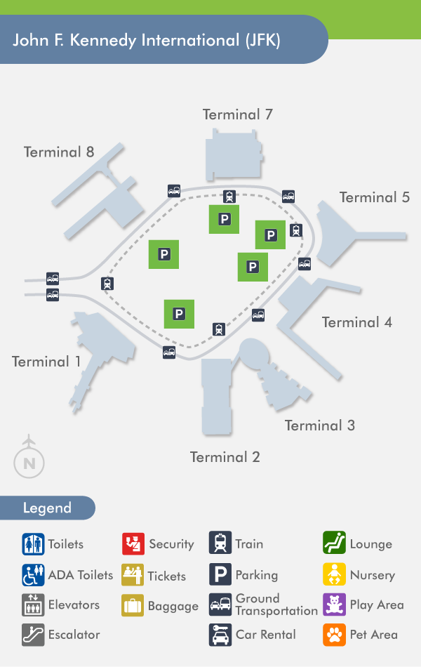 JFK Airport (JFK) Terminal Map