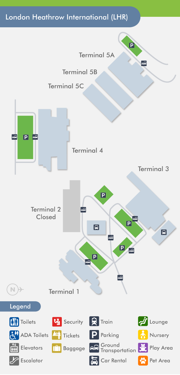 Heathrow lhr terminal map by terminal by airline sciox Choice Image