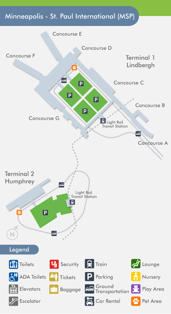 minneapolis airport msp terminal map