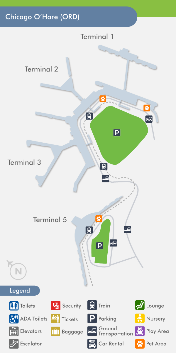 O\'Hare Airport (ORD) Terminal Map