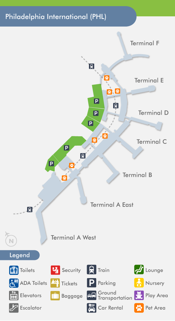 Philadelphia Airport (PHL) Terminal Map