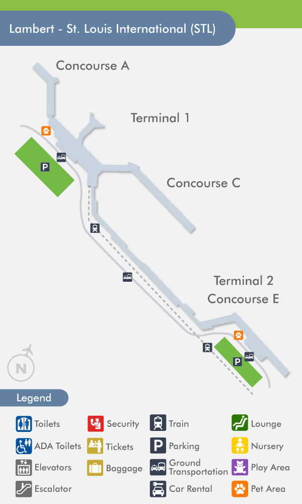 St. Louis Airport (STL) Terminal Map on