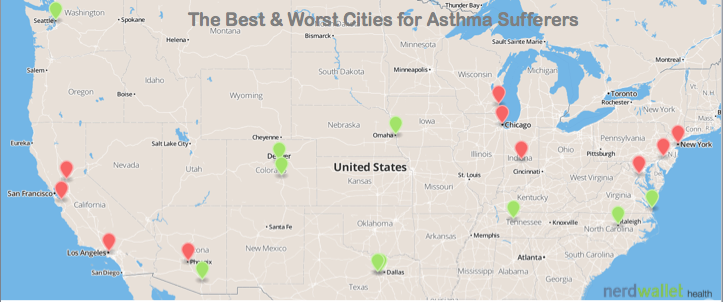 The Best and Worst Cities for Asthma Sufferers