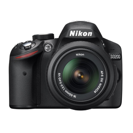Nikon D3200 DSLR Camera with 18-55mm VR Lens - Black