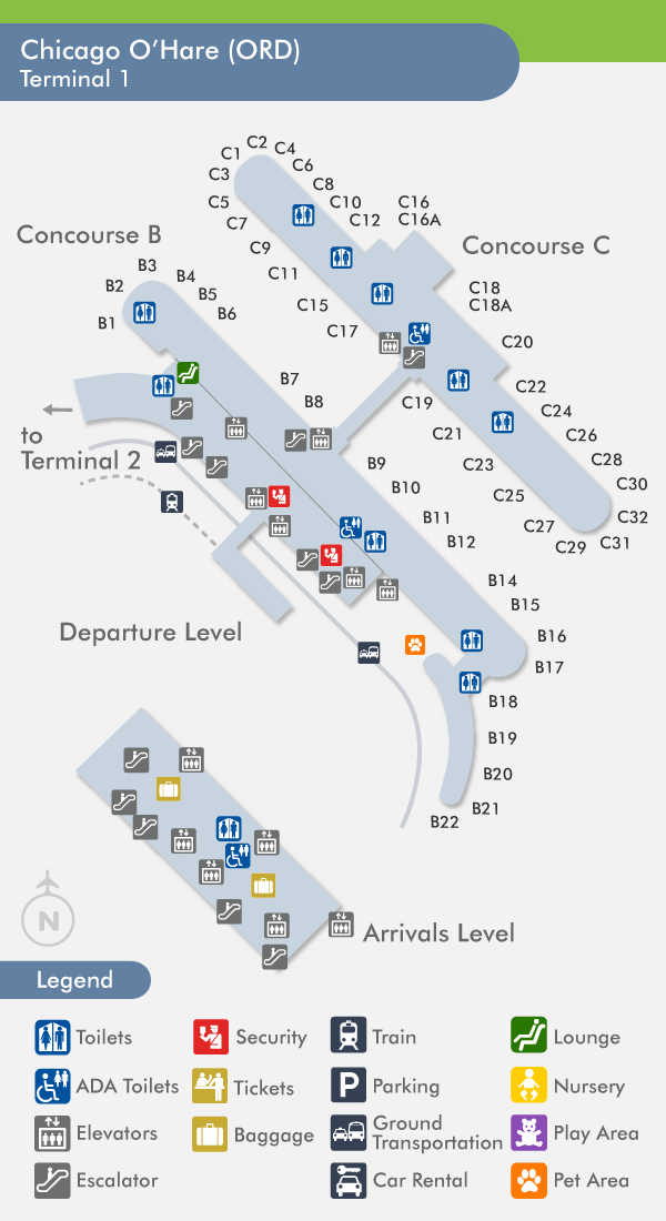 Ord Terminal 1 Map | Path Map