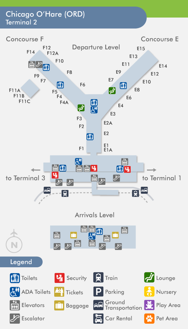 O Hare Terminal 2 Map | Global Map